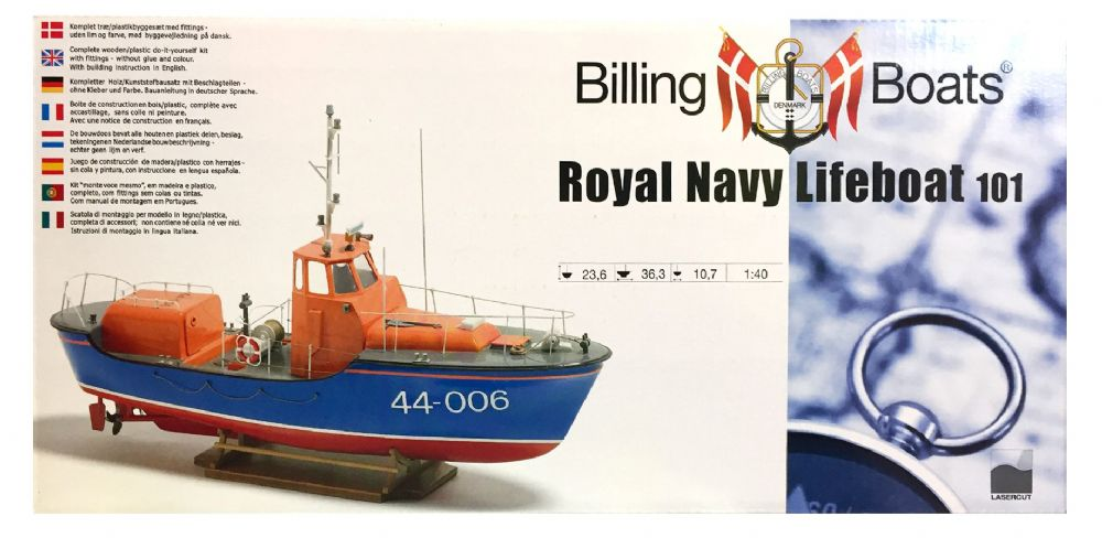 Billing Boats 1:40 Scale RNLI Waveny Lifeboat Model Building Kit R.N.L.I